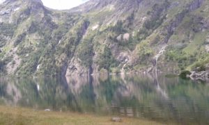 Nice lake in the French Alps