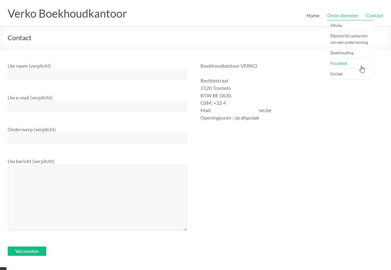 Verko Boekhoudkantoor Screenshot Formulier