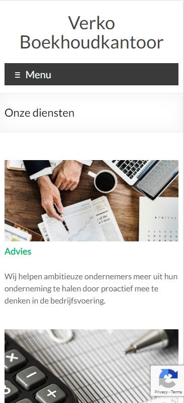 Verko Boekhoudkantoor Screenshot Mobiel